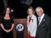 Leslie Marshall with Ambassador Dan Rooney and Mrs. Rooney at the U.S. Embassy in Dublin, Ireland